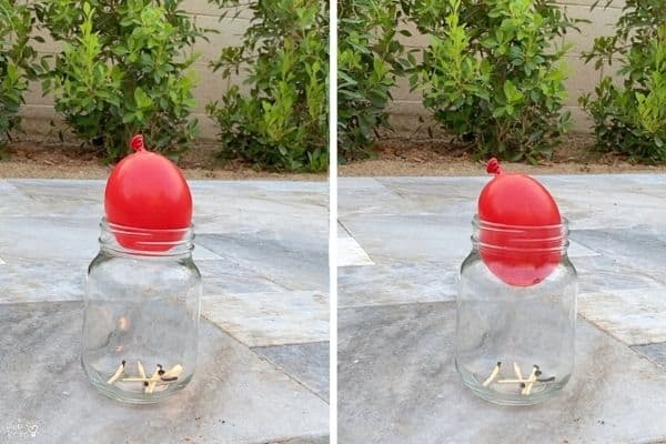Balloon in a Bottle Experiment Comparison