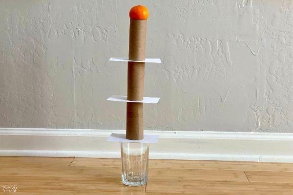Inertia Experiment Fruit Tower