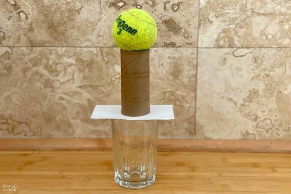 Inertia Experiment Tennis Ball