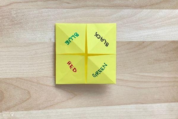 Origami Fortune Teller Fold (12)