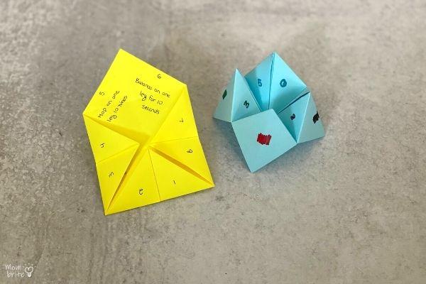Origami Fortune Teller Open