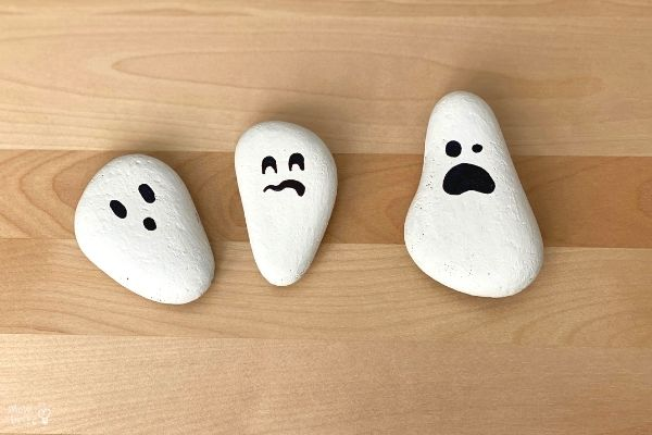 Painted Rock Ghost Craft Permanent Marker