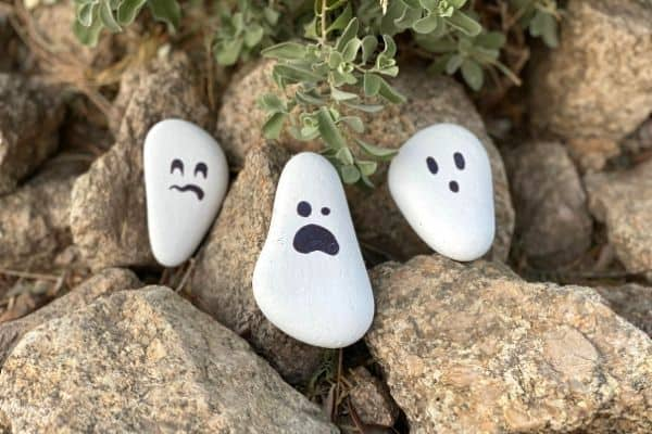 Painted Rock Ghost Craft Stones