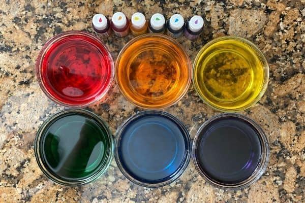 Sugar Water Density Colors