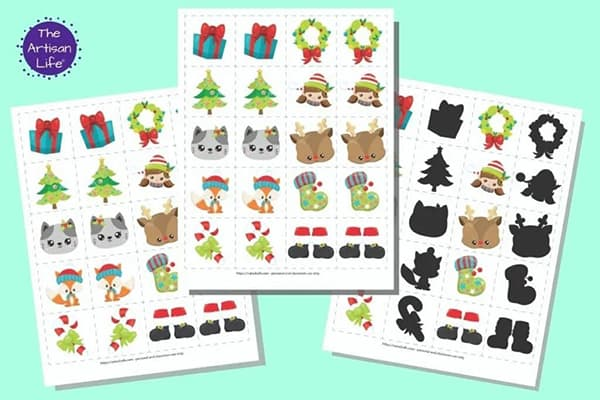 Christmas Matching Cards