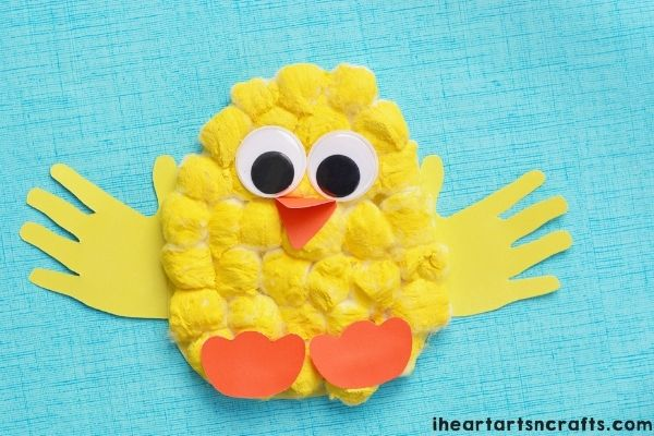 Cotton Ball Easter Chick Craft