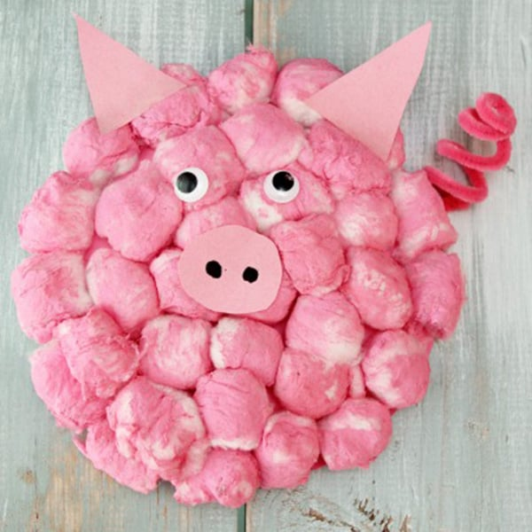 Cotton-Ball-Pig