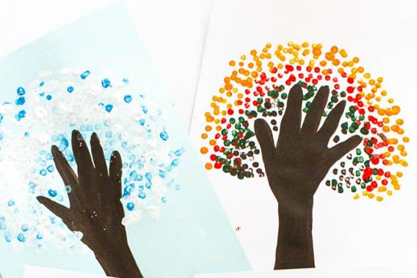 Four Seasons Handprint Tree