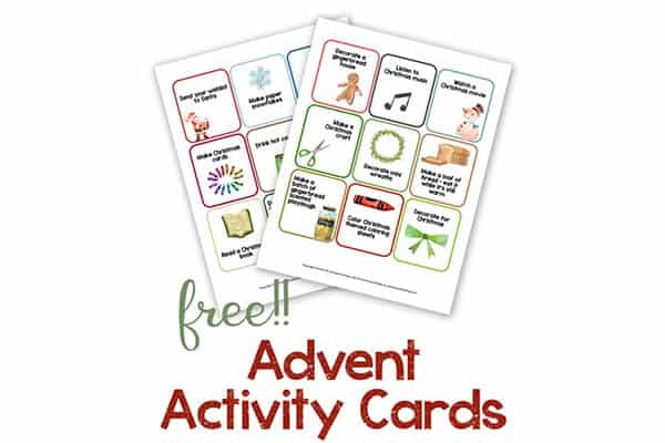 Free Advent Activity Cards
