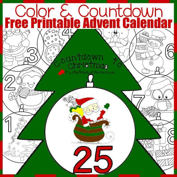 Free Avent Calendar Color and Countdown