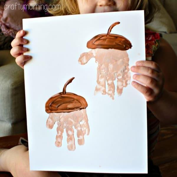 Handprint Acorn Craft