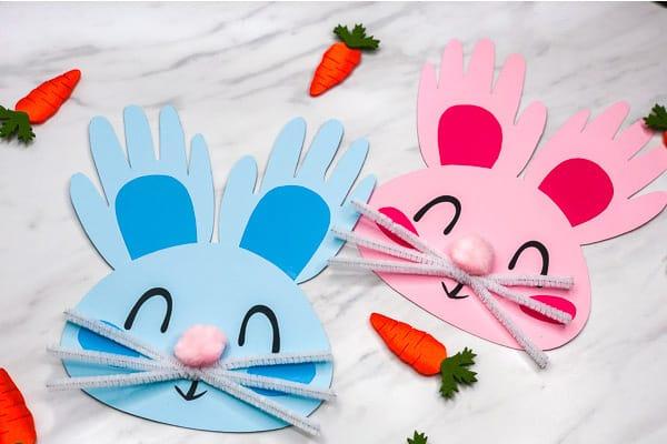 Handprint Bunny Craft for Kids