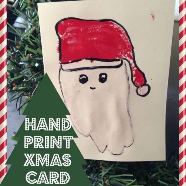 Handprint Santa Card