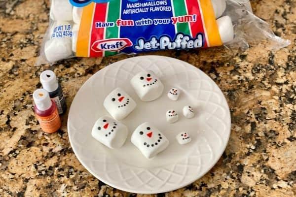 Hot Cocoa Marshmallow Experiment Snowmen
