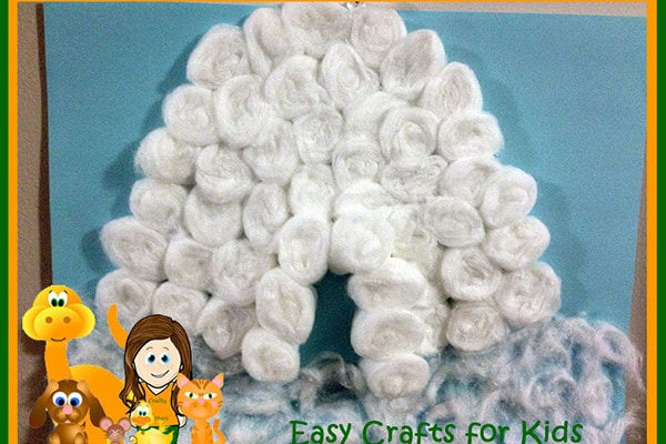 Igloo-Cotton-Ball-Craft