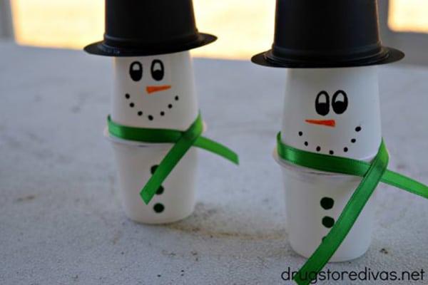 K-Cup Snowman Craft