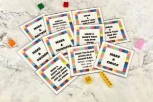 LEGO 2D Task Cards Cards