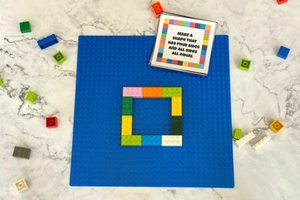 LEGO 2D Task Cards Square