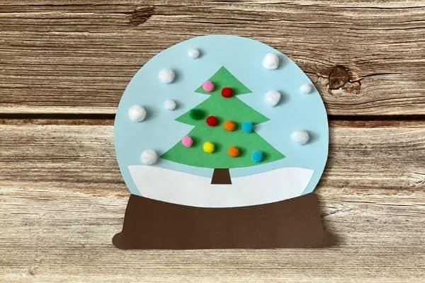 Paper Christmas Tree Snow Globe (1)