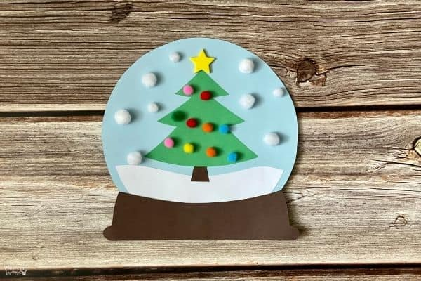 Paper Christmas Tree Snow Globe