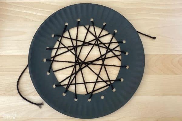 Paper Plate Spider Web Thread Yarn