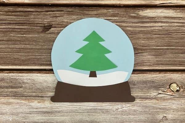 Paper Snow Globe Base