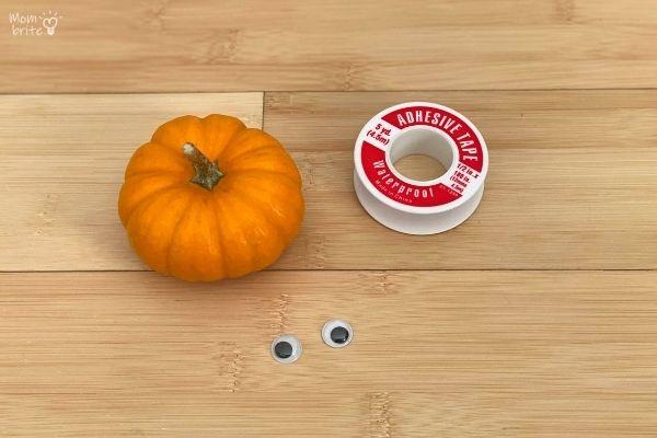 Pumpkin Mummy Craft Materials