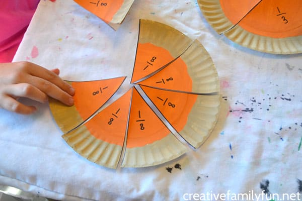 Pumpkin Pie Fractions 1