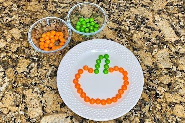 Pumpkin Skittles Experiment Setup
