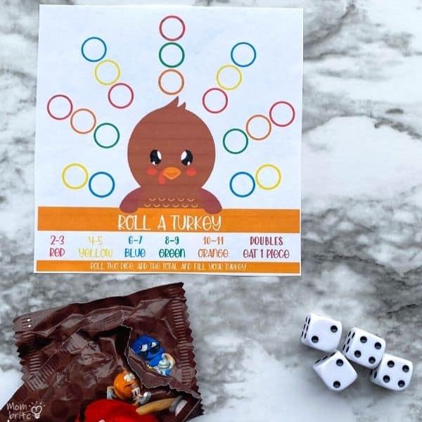 Roll A Turkey Game M&Ms (1)