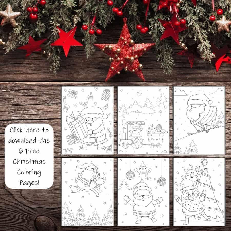 Santa Coloring Pages Mockup