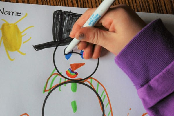 Snowman Coloring Craft