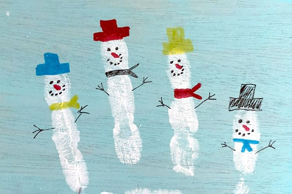 Snowman Fingerprint Craft