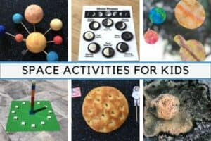 Space Activities for Kids Featured