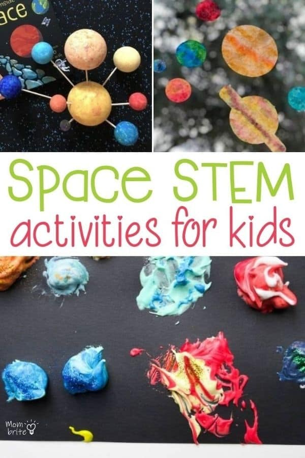 Space STEM Activities for Kids Pin