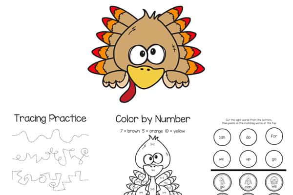 Thankful Turkey Printable Activity 1