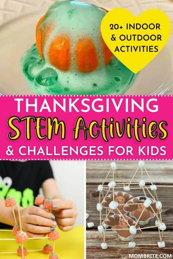 Thanksgiving STEM Activities for Kids Pin