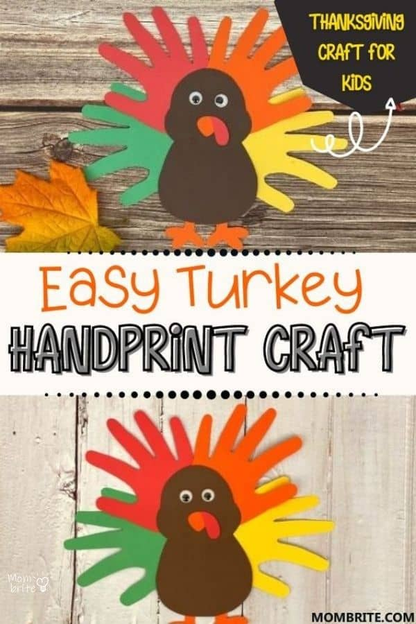 Turkey Handprint Craft Pin