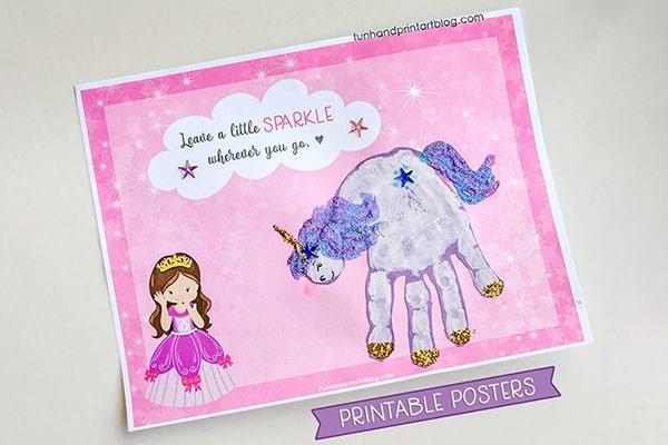 Unicorn Handprint Posters