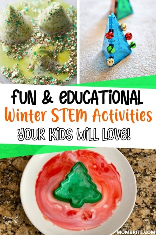 Winter STEM Activities for Kids Pin