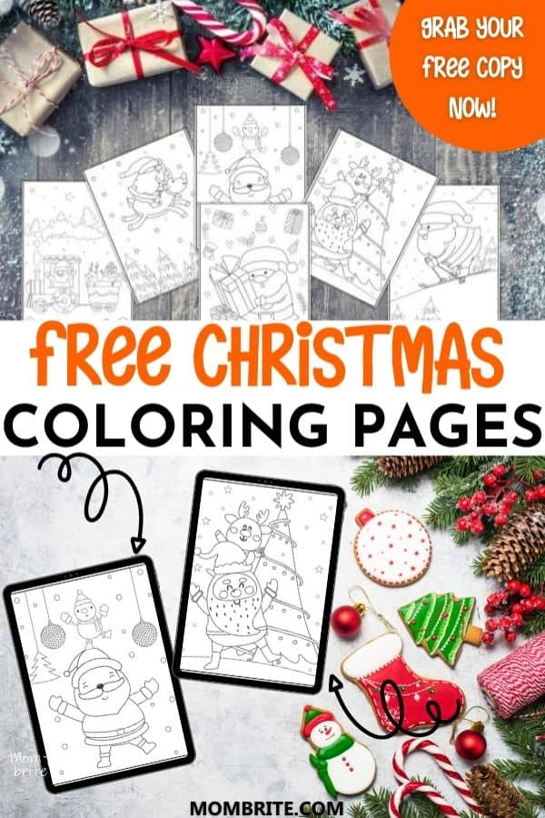 free christmas coloring pages pin