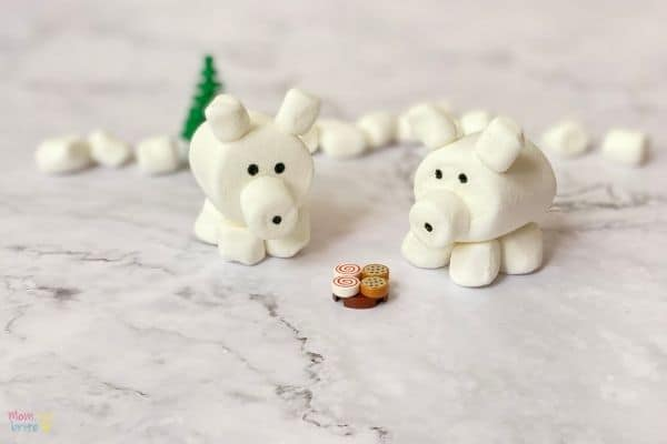 3D Marshmallow Polar Bear Craft (4)