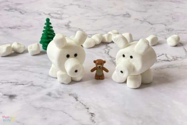 3D Marshmallow Polar Bear Craft (6)