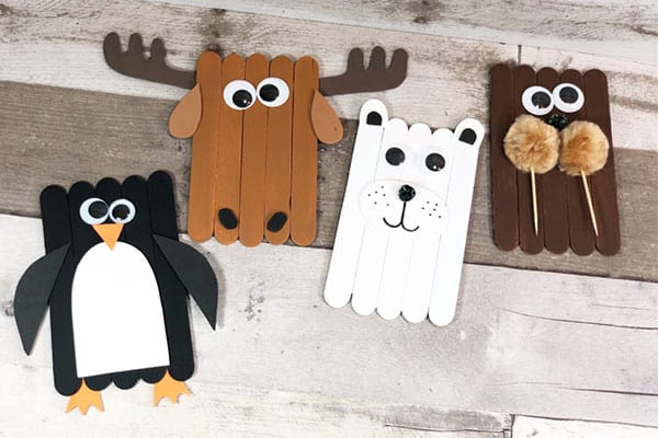 Arctic Animal Popsicle Crafts