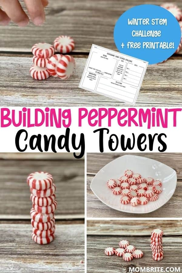 Building Peppermint Candy Towers Pin