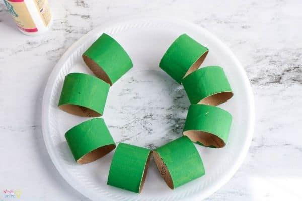 Cardboard Tube Wreath (3)