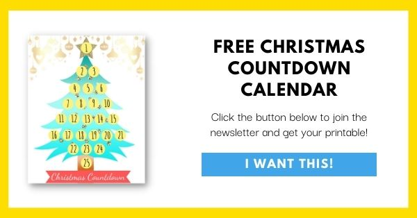 Christmas Countdown Calendar Email List Opt-In