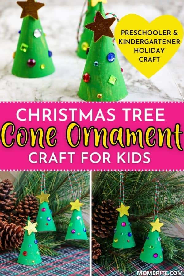 Christmas Tree Cone Ornament Pin