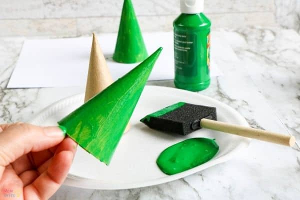 Christmas Tree Cone Ornament Process