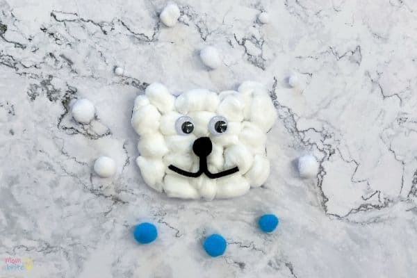 Cotton Ball Polar Bear Craft (1)